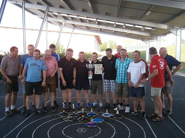 Stadtmeister 2013 - Bernd Grünleitner, Thomas Preus, Reinhard Orend, Jörg Rudolfi v.l.