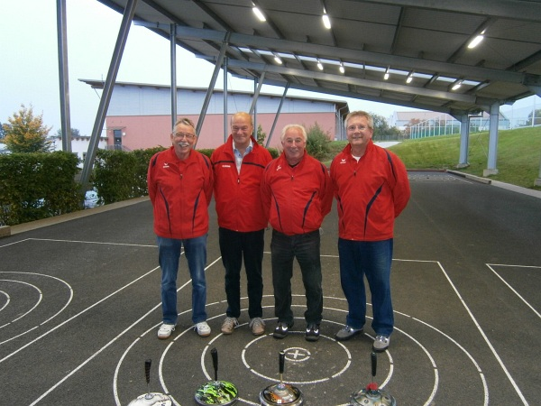 v.l. Adolf Ottl, Dieter Willmann, Lothar Oberpriller und Bernd Grünleitner