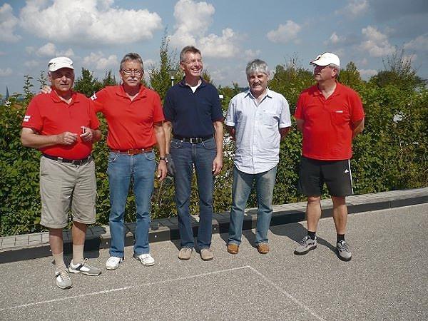 1. Platz - Erwin Bruckmoser, Adolf Ottl, Reinhard Ferstl, Helmut Hoffman, Bernd Grünleitner v.l.