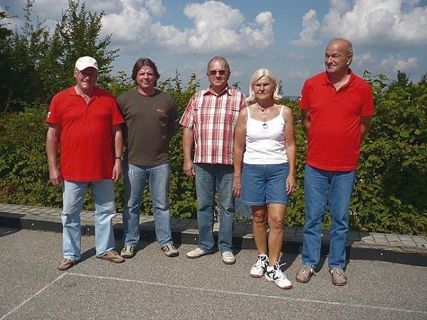 2. - Platz - Erwin Loibl, Thomas Preuß, Georg Gerner, Reinhilde Willman, Dieter Willamm v.l.