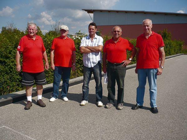 3. Platz - Erwin Hammerl, Klaus Lube, Max Simbürger, Eugen Obermeier, Hans Gruber v.l.