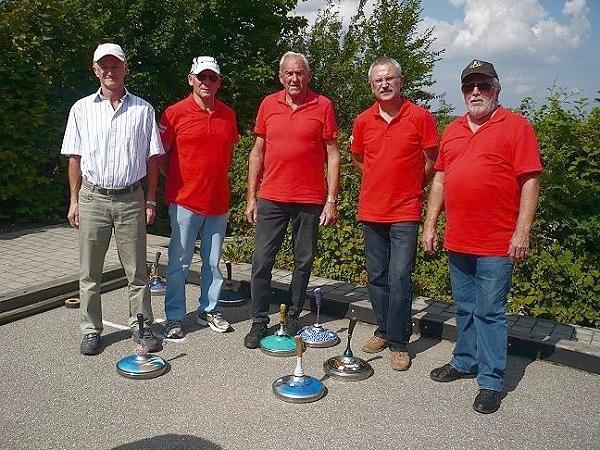 5. Platz - Josef Ehner, Martin Heinrich, Peter Richter, Siegfried Engel, Herbert Pörstendorfer v.l.