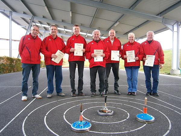 v.l. Adolf Ottl, Bernd Grünleitner, Reinhard Ferstl, Lothar Oberpriller, Peter Richter, Karla von Höfeling, Manfred Knopper
